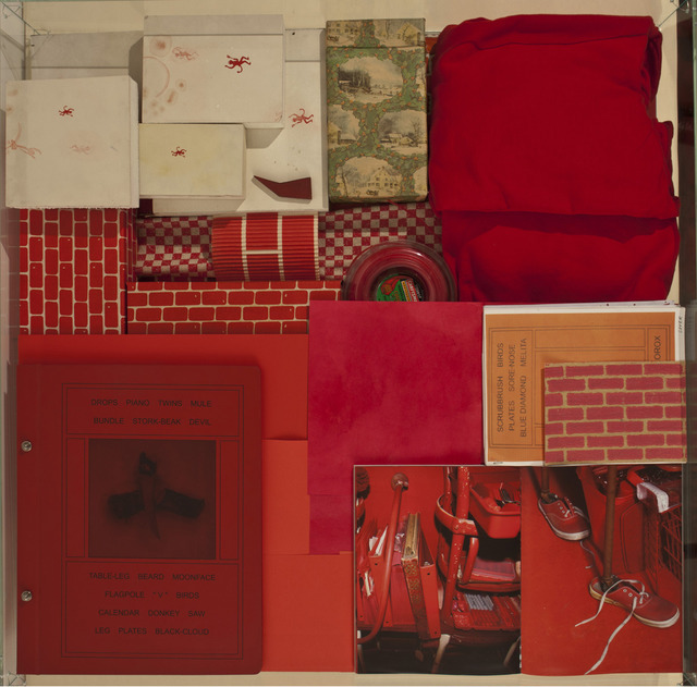 , 'No title (Red vitrine),' 1982-2011, Gagosian Gallery