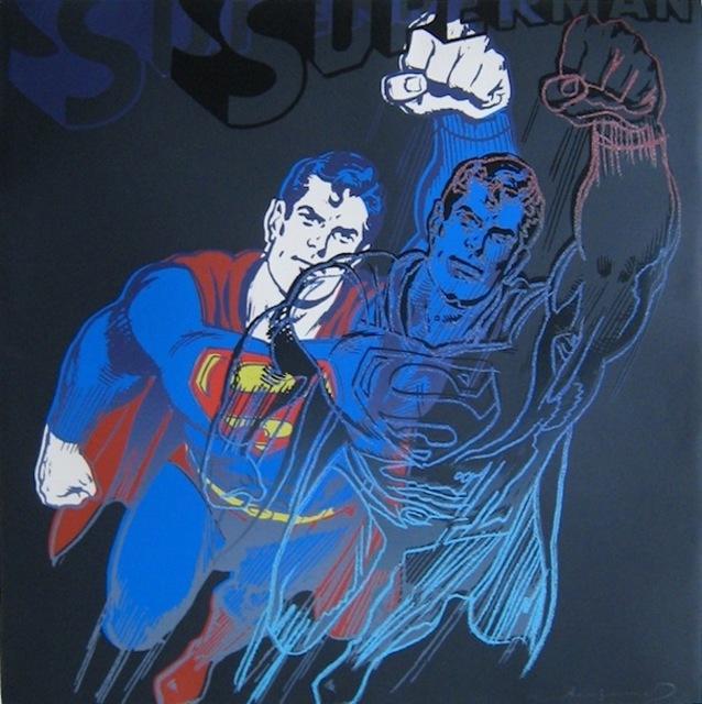 Andy Warhol, 'Superman, from Myths', 1981, Print, Screenprint and Diamond Dust on Lenox Museum Board, Gregg Shienbaum Fine Art
