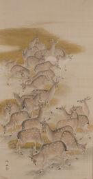 Hanging Scroll, Herd of Deer