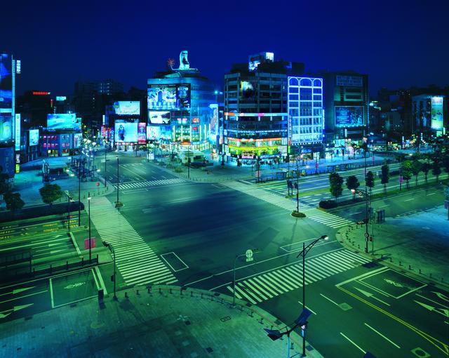 Yuan Goang-Ming 袁廣鳴, 'City Disqualified - Ximen District at Night', 2002, TKG+