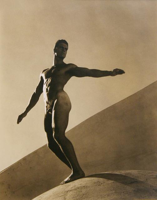 Bruce Weber, 'Mark, Laguna Beach Construction Site', 1987, Photography, Toned gelatin silver print, ClampArt
