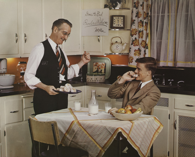 , 'Father and Son in Kitchen,' 1941, Bruce Silverstein Gallery