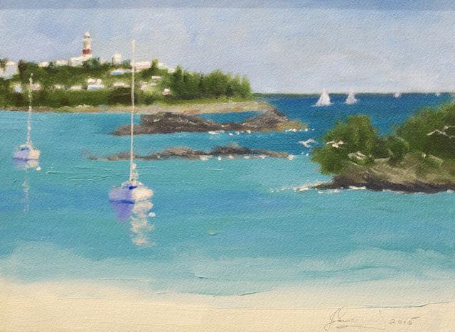 , 'Turtle Bay, St. David's Light,' 2017, Cerulean Arts