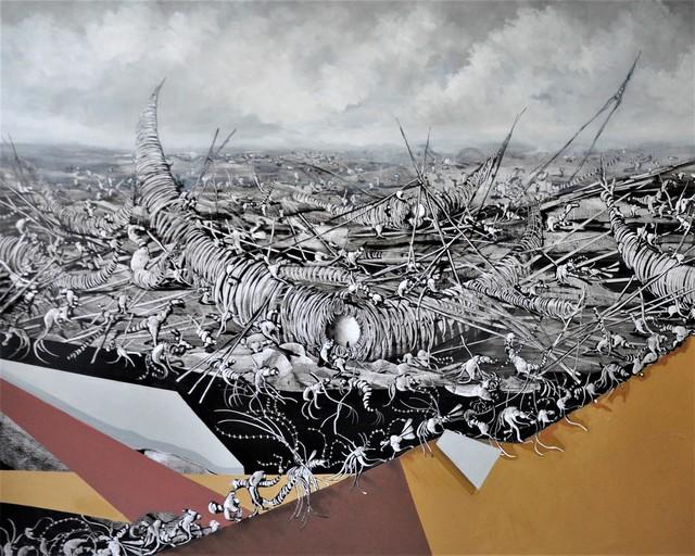 José Benítez Montilla, 'Fragatas en construcción ', 2018, Es Arte Gallery