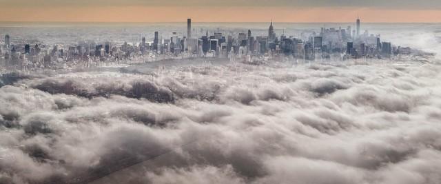 David Drebin, 'Over the Clouds, Manhattan, New York', 2016, CHROMA GALLERY