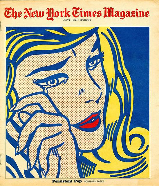 """Roy Lichtenstein, 'Roy Lichtenstein New York Times Magazine 1974, """"Persistent Pop"""" (After Roy Lichtenstein)', 1974, Ephemera or Merchandise, Off-set lithograph, Lot 180"""