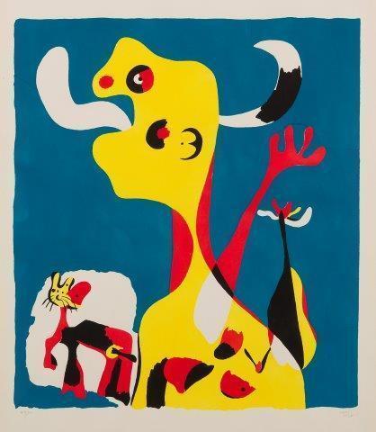 Joan Miró, 'Femme et Chien devant la Lune [Dupin 18]', 1935, Roseberys