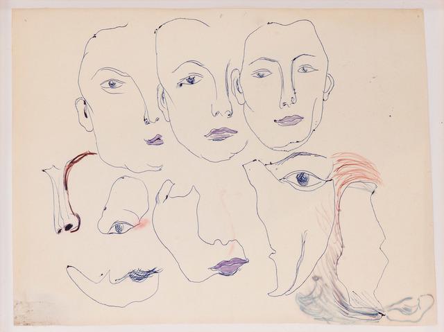 , 'Gesichtsteile (mit 3 Köpfen),' 1965, Beck & Eggeling