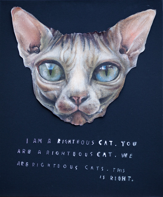 , 'I Am A Righteous Cat,' 2013, MUCA