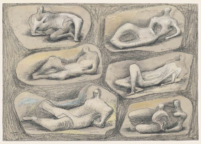 , 'Reclining Figures,' 1943, Osborne Samuel