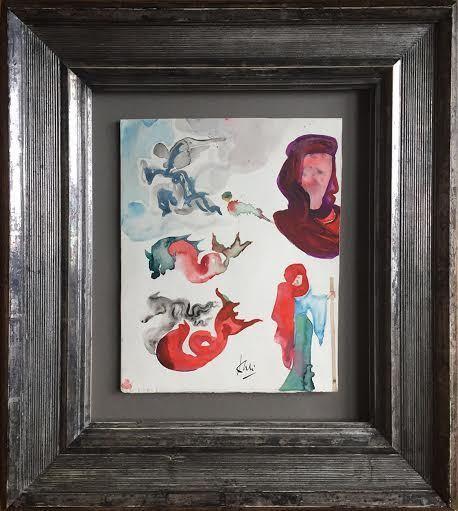 Salvador Dalí, 'Angel and various figures (Angel et diverses figuras)', ca. 1951, Robin Rile Fine Art