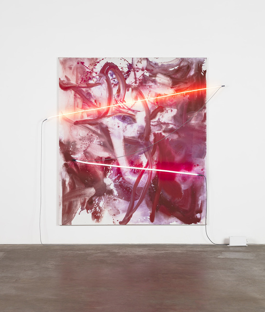 Mary Weatherford, 'Smoke Blossom Exploding Bamboo', 2019, David Kordansky Gallery