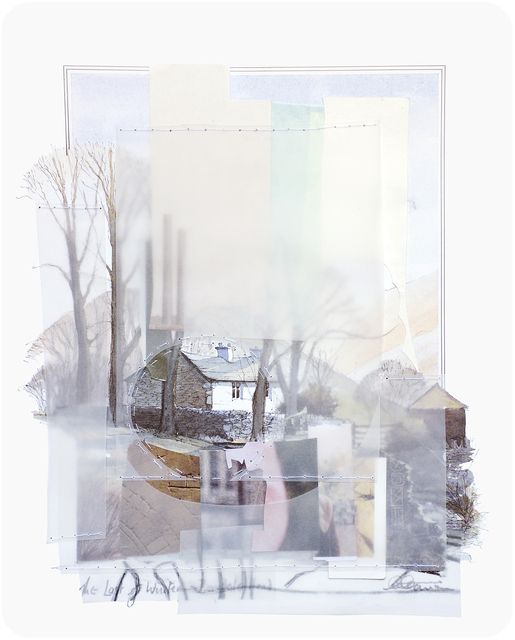Linden Eller, 'Last of Winter', 2017, Drawing, Collage or other Work on Paper, Paper, vellum, and cotton thread sewn on paper, Court Tree Gallery