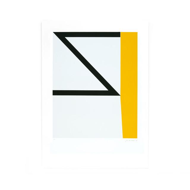 Johan Van Oeckel, ' Untitled (Black & yellow on light grey)', 2018, Alfa Gallery