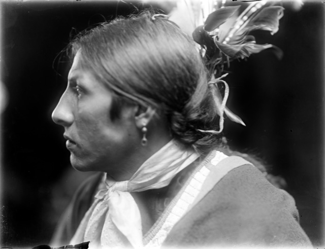, 'Amos Two Bulls, a Sioux Indian from Buffalo Bill's Wild West Show,' ca. 1900, Machamux