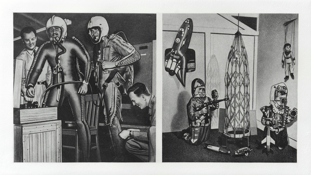 Eduardo Paolozzi, 'G. Space Age Archaeology. Left: Fathers. Right: Sons', 1971, Eames Fine Art