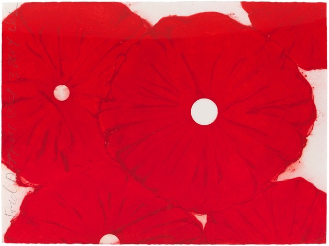 Donald Sultan, 'Red Poppies Oct 3 2014', 2014, Drawing, Collage or other Work on Paper, Conte pencil on paper, Galeria Senda