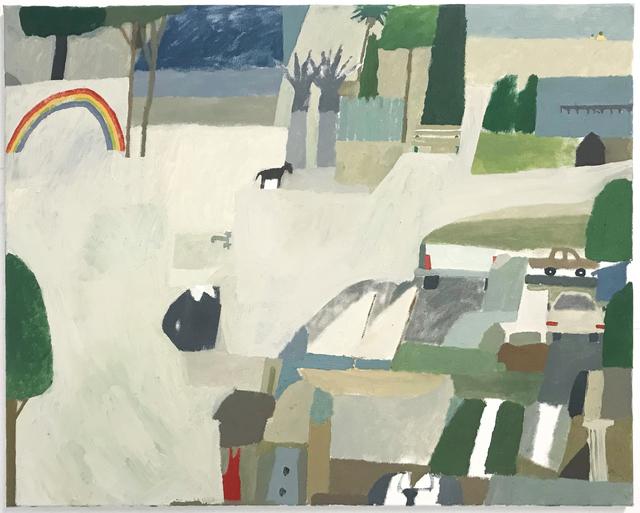 , 'Shoreline, Palm Tress, Rainbow, Tie,' 2018, ArtYard