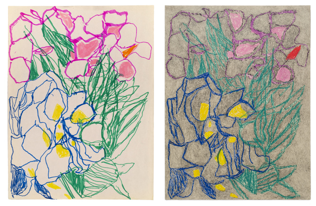 Anthony Campuzano, 'Double Ballibay Flowers No. 1 (Diptych)', 2017, Fleisher/Ollman