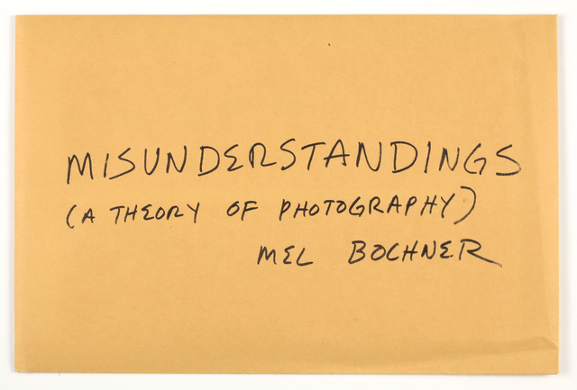Mel Bochner, 'Misunderstandings (A theory of photography)', 1970, Benjamin Ogilvy Projects
