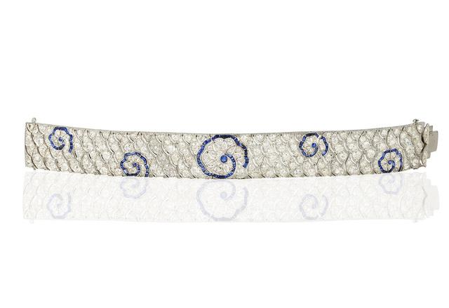 , 'Diamond and sapphire platinum bracelet ,' ca. 1930, Wartski