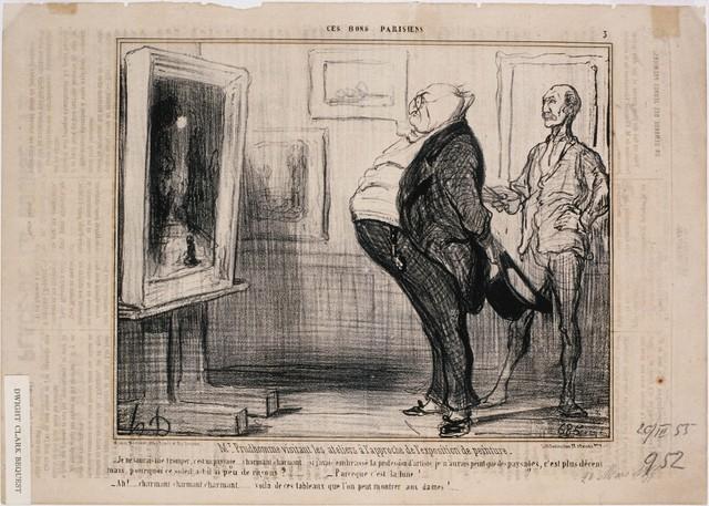 Honoré Daumier, 'Ces Bons Parisiens: M. Prudhomme visitant les ateliers…', 1855, Phillips Collection