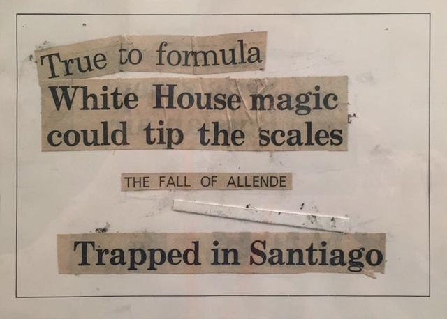 , 'The Fall of Allende (Chile 1973, un micropoema hecho en el mismo ano),' 1973-2011, Baró Galeria
