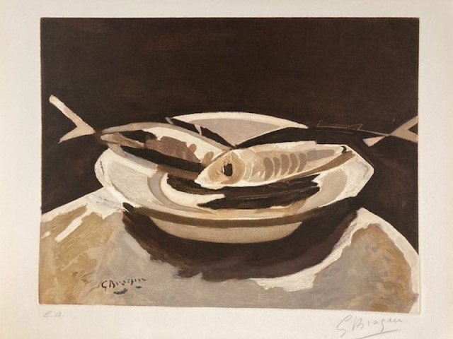 Georges Braque, 'The Fishes ', 1956, Print, Etching on paper, Le Coin des Arts