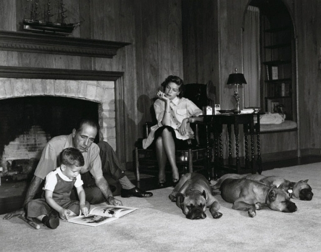 , 'Lauren Bacall & Bogart with their Son and Dogs,' 1952, Susan Spiritus Gallery