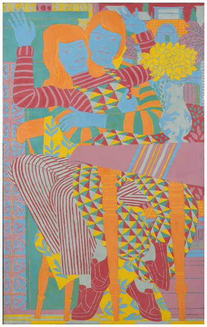 , 'Two People, Patterns & Daffodils,' 1982, Tatha Gallery