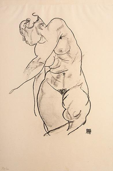 , 'Stehender weiblicher Akt (Standing Female Nude),' 1918, Tanya Baxter Contemporary
