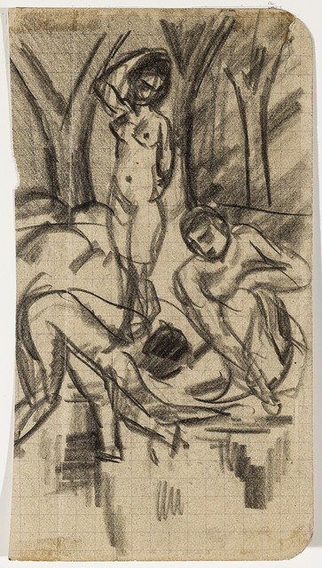 , 'Nude men scooping water,' 1913, Galerie Thomas