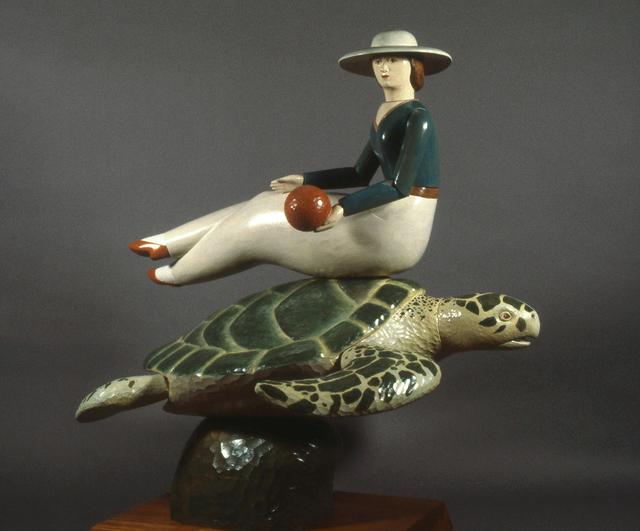 David Everett, 'Tortuga', 1986, Sculpture, Polychromed mahogany, Valley House Gallery & Sculpture Garden