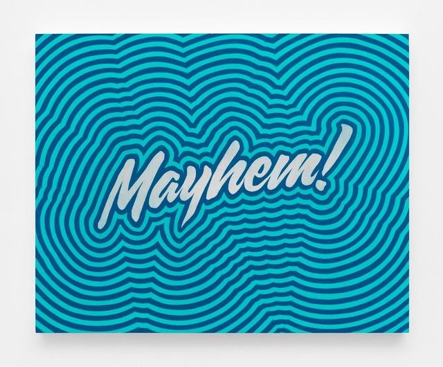 , 'Mayhem Study (Aqua Throb),' 2018, Gavlak