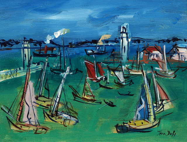 Jean Dufy, 'Le Port', c. 1950, Painting, Oil on canvas, Opera Gallery Gallery Auction
