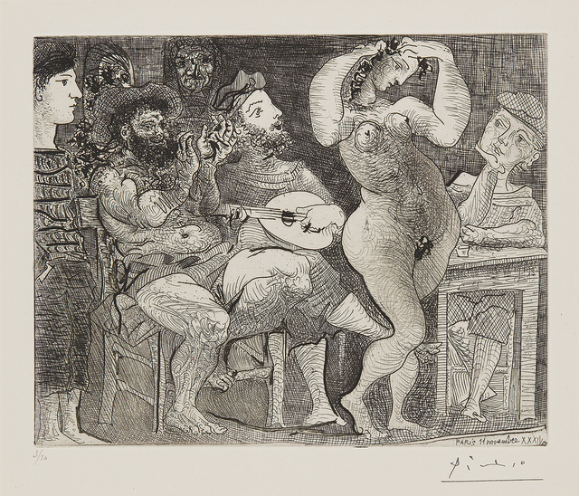 Pablo Picasso, 'Au cabaret (At the Cabaret)', 1934/61, Phillips