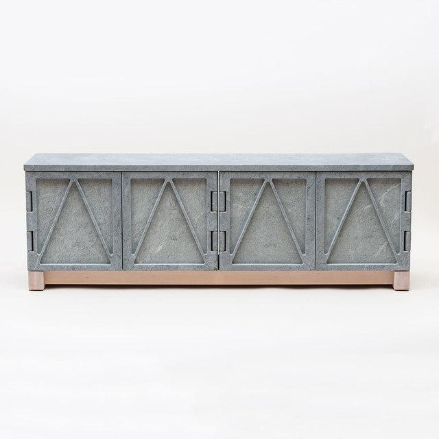 , 'Relief Stone Credenza,' 2016, Patrick Parrish Gallery