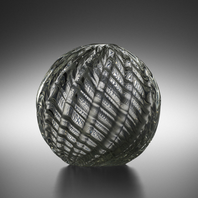 Paolo Venini, 'Spherical Diamante vase, model 3638 A', 1934-36, Design/Decorative Art, Internally decorated glass, Rago/Wright