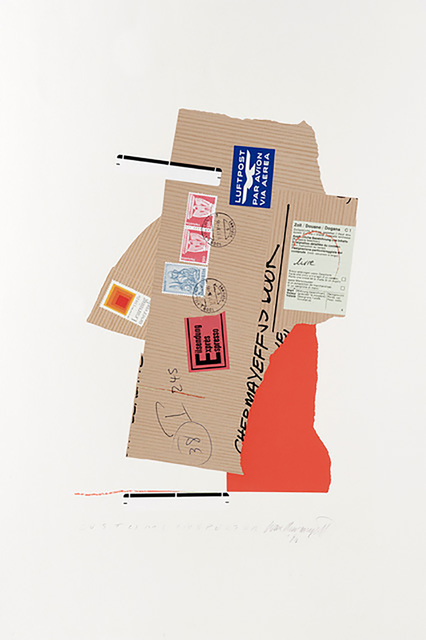 , 'Customs Inspector with Josef Albers postage stamp,' 1982, Alpha 137 Gallery