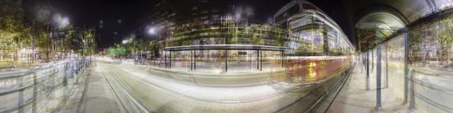 , 'Eight Streetcar Shelters (Night), Spadina   Avenue,' 2013, Pari Nadimi Gallery