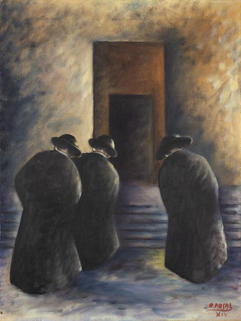Ottone Rosai, 'Tre preti', 1936, Painting, Oil on canvas, Il Ponte
