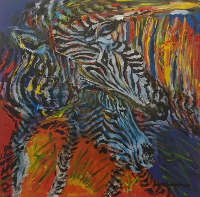 Ángel Caballero, 'Cebras', 2018, ACCS Visual Arts