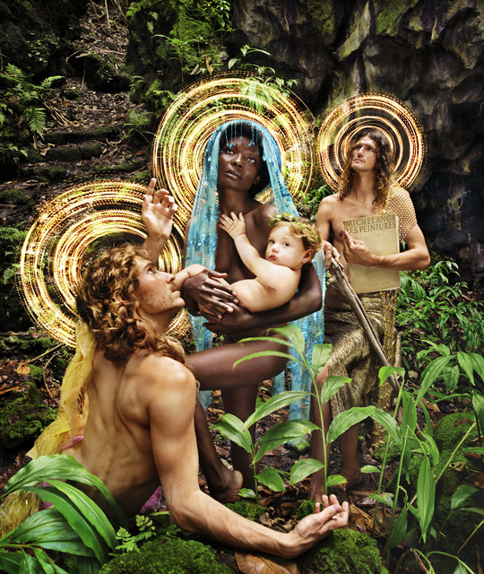 David LaChapelle, 'The Holy Family with St. Francis', 2019, Photography, Pigment Print, Alex Daniels - Reflex Amsterdam