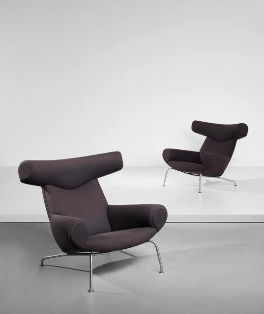 Hans Jørgensen Wegner, 'Pair of 'Ox' lounge armchairs, model no. AP-46', designed 1960, Phillips