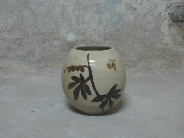 , 'Vase, stoneware, non-glaze interior, glazed exterior with drawing,' , Gallery Naruyama