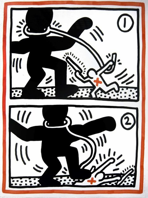 Keith Haring, 'Untitled #3, from Free South Africa', 1985, Print, Lithograph, Hamilton-Selway Fine Art