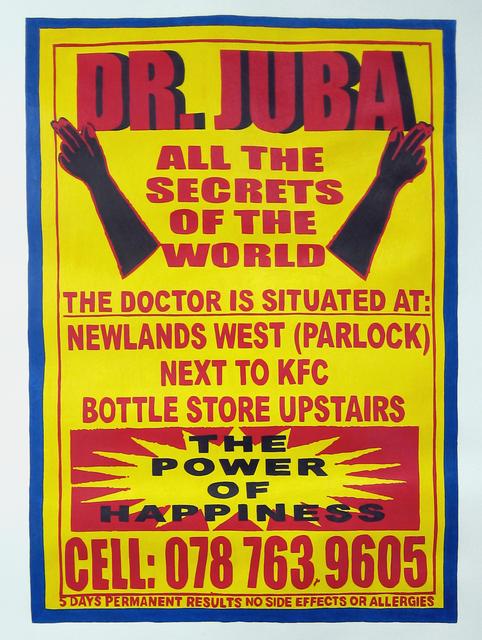 , 'Dr. Juba,' 2012, Galerie Ernst Hilger