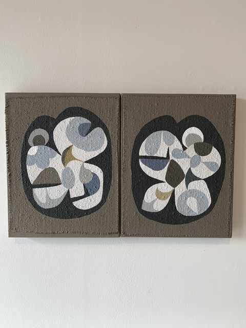 John-Paul Philippe, 'Eye-lands diptych #6', 2019, Barry Whistler Gallery