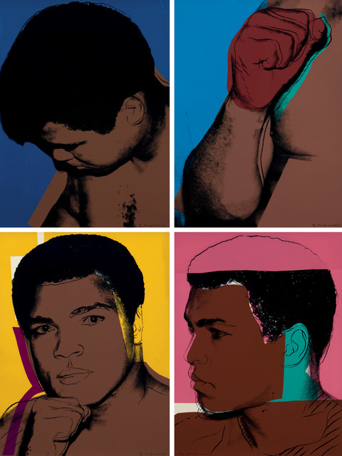Andy Warhol, 'Muhammad Ali complete portfolio consisting of four hand signed artworks F&S II.179-182', 1978, Fine Art Mia
