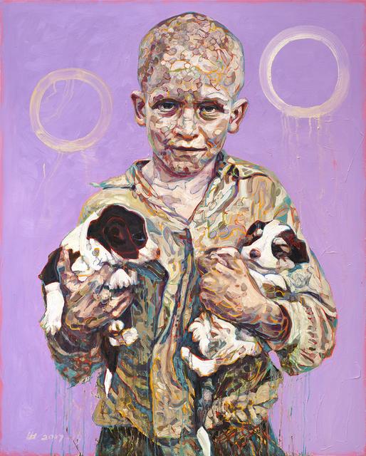 Hung Liu, 'Migrant Child: Puppies', 2017, Turner Carroll Gallery